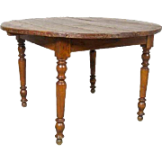French Provincial Pine and Cherrywood Round Table