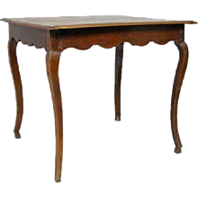 Small French Provincial Louis XV Style Oak Side Table