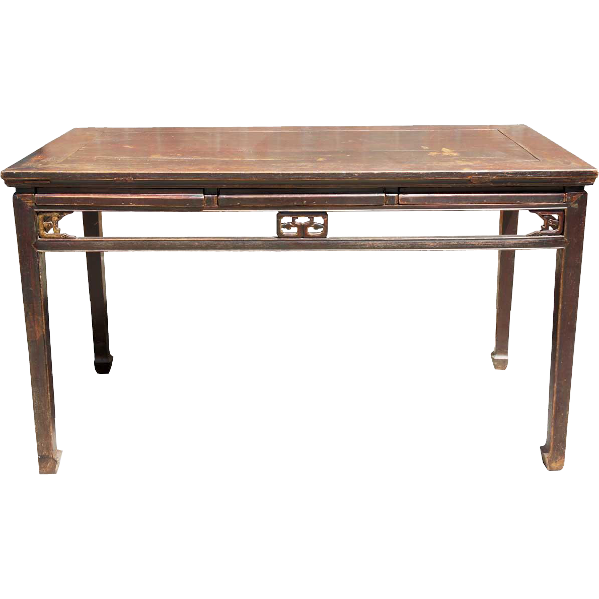 Chinese Red Lacquered Wood Console Table