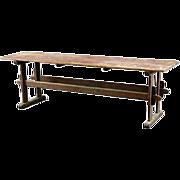 Large Scandinavian Pine Trestle Farm Table