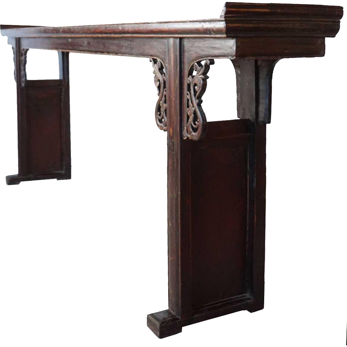 Chinese Walnut Altar Console Table