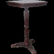 Anglo Indian William IV Rosewood Square Pedestal Side Tilt-Top Table