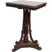 Anglo Indian William IV Teak Square Pedestal Side Table