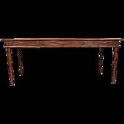 Continental Teak Faux Bamboo Rectangular Dining Table