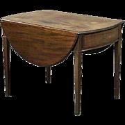 English Hepplewhite Style Mahogany Pembroke Drop-Leaf Table