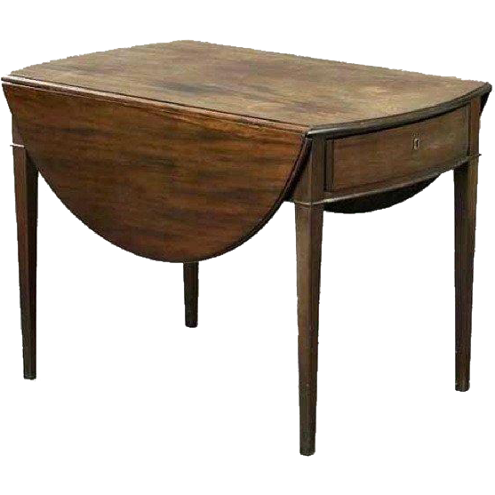 English Hepplewhite Style Mahogany Pembroke Drop-Leaf Table