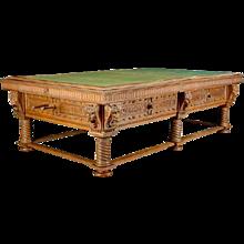 Danish Blichfeldt Manor House Oak Pool and Snooker Table