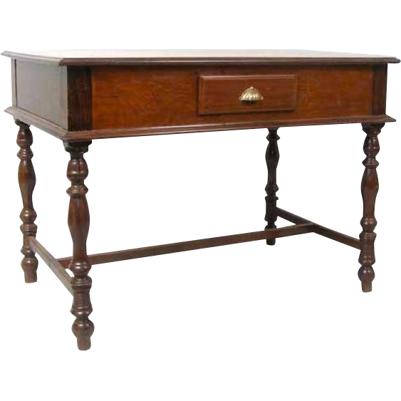 Indo-Portuguese Rosewood and Satinwood Side or Writing Table