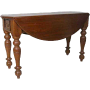 Anglo Indian Teak Round Drop-Leaf Table