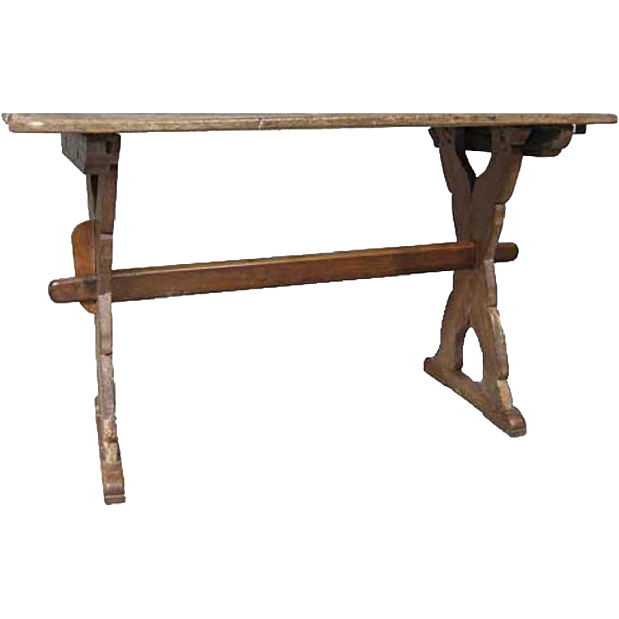 Danish Oak Extendable Trestle Dining Table from  : T27991L from www.rubylane.com size 1211 x 1211 png 277kB