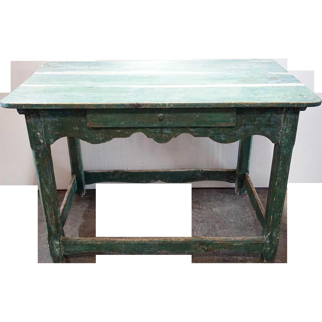 Scandinavian painted pine kitchen work table from eronjohnsonantiques on ruby lane - Scandinavian kitchen table ...