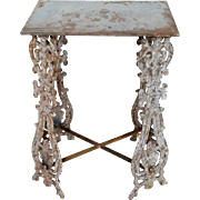 English Painted Cast Iron Balusters as a Side Table
