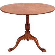 English Mahogany Tilt-top Pedestal Round Side Table