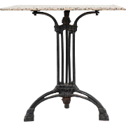 Swedish Jugendstil Marble and Iron Cafe Table