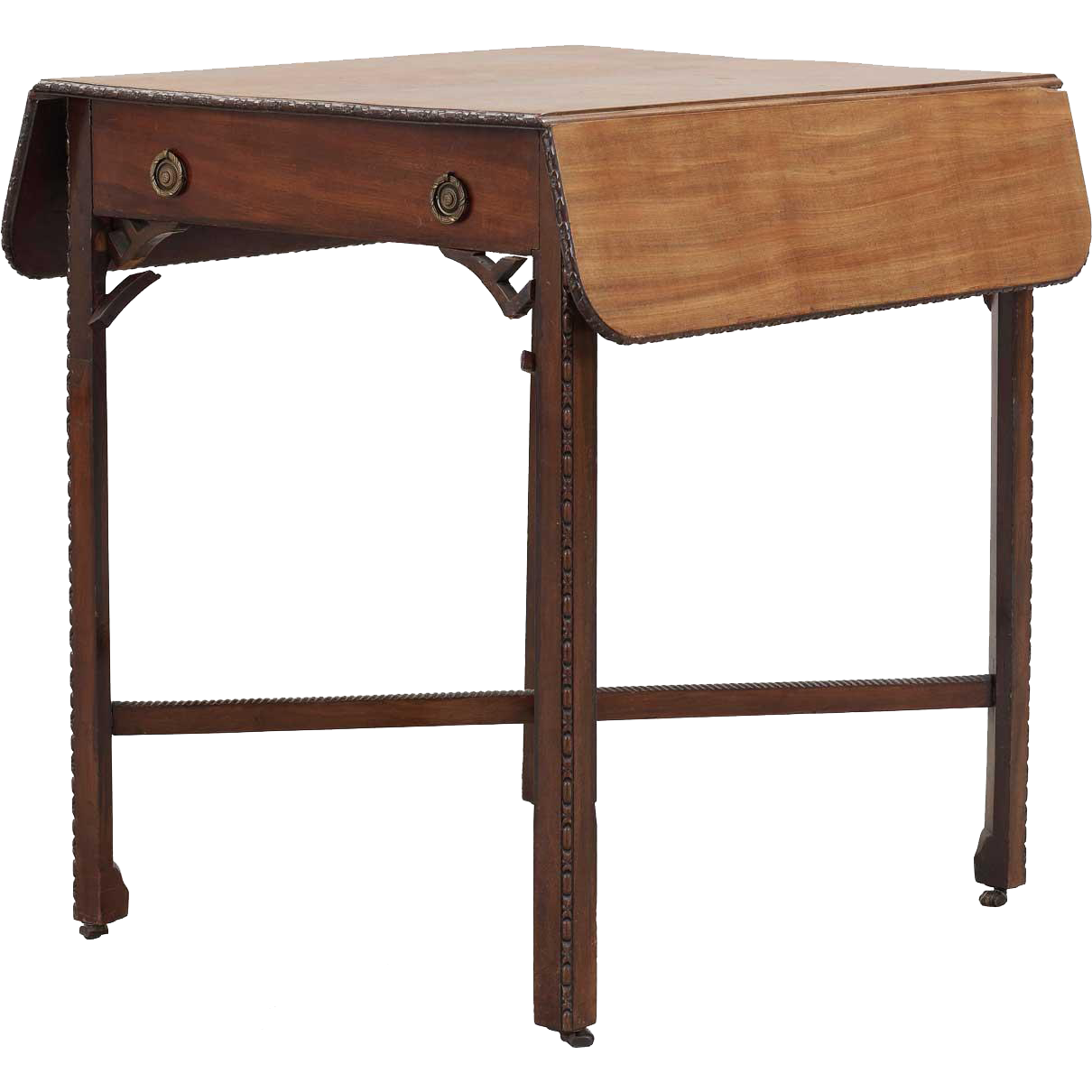 English Chippendale Mahogany Drop-Leaf Side Table