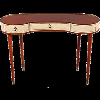 HALVDAN PETTERSSONS Mid-Century Modern Faux Leather Dressing Table