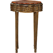 Small French Louis XVI Giltwood and Carved Walnut Side Table