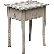 Dutch Tile Painted Pine Side Table