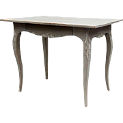 Swedish Gustavian Painted Pine Side Table
