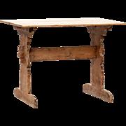 Small Swedish Pine Trestle Table