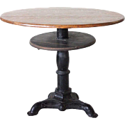 American Oak Top Cast Iron Tavern Table