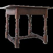 English George II Provincial Oak and Elm Tavern Table