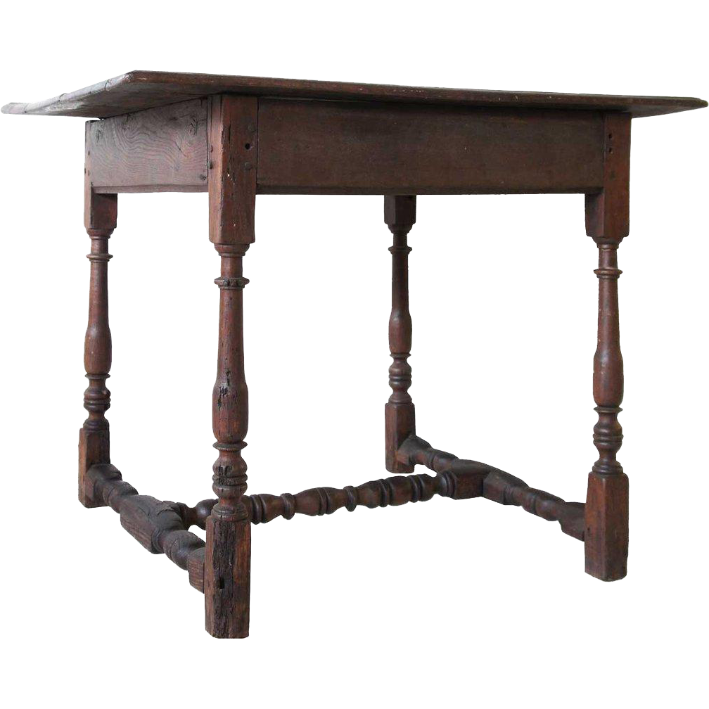 English George II Provincial Oak and Elm Tavern Table