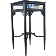 English Chippendale Style Dark Stained Mahogany Vitrine Side Table