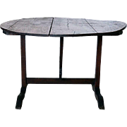French Oak Tilt-top Wine Tasting/Vendange Table