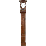 18th Century French Directoire Normandy Oak Grandfather Clock