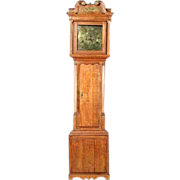 18th Century English George III Oak Longcase Clock
