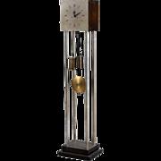 Swedish/Danish Art Deco Birch Tall Case or Grandfather Clock