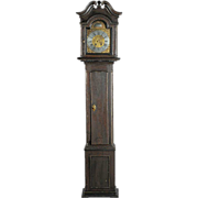 18th Century Danish P. Nicolaisen Guderup Pine Longcase Clock Original Finish