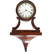 Antique Swedish Empire Mahogany Veneer Bracket Clock