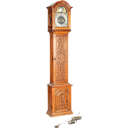 Danish Christian Due Oak Grandfather Clock 18th century