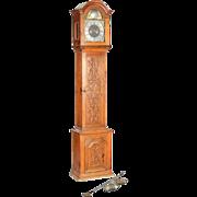 Danish Christian Due Oak Grandfather Clock 18th century