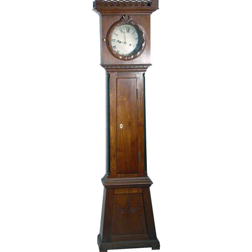 Danish Empire Bornholm Oak Grandfather Clock