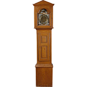 Danish R. Christensen Oak and Pine Grandfather Clock