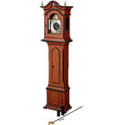 18th Century Swedish Painted Pine Longcase Clock