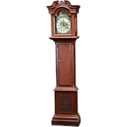 Danish Jurgen Kaadtmann Painted Pine Grandfather Clock
