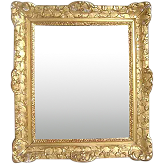 French Louis XIV Style Gilt Gesso Mirror