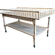 French Provincial Painted Pine Two-Tier Store Fixture Table