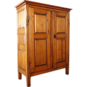 French Canadian Quebec Pine Storage Cabinet