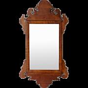 Small American Chippendale Mahogany Mirror