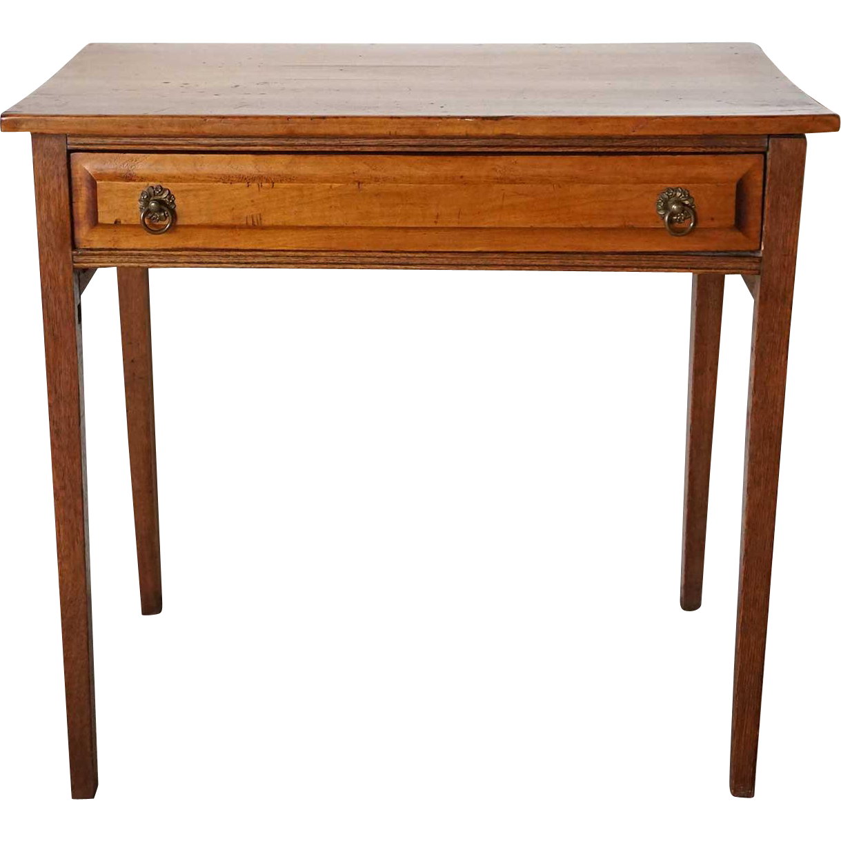 American New England Birch and Oak Side Table