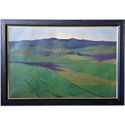 FRITZ EDVARD KARFVE Oil on Canvas Painting, Landscape