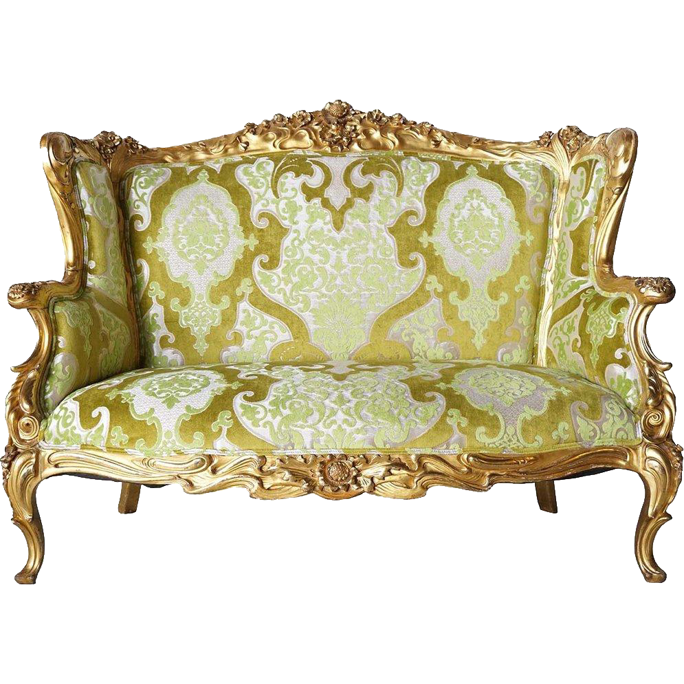 American S. Karpen & Brothers Giltwood Upholstered Sofa