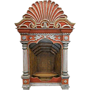 Indo-Portuguese Painted Altar Niche