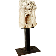 Indian Sandstone Architectural Shrine Niche on Metal Stand