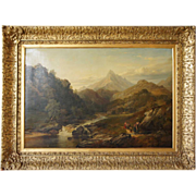 Large Scottish Mountain Landscape ARTHUR PERIGAL JR. Oil on Canvas Painting